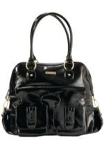 Timi & Leslie Marilyn Diaper Bag (Black Patent) by timi & leslie