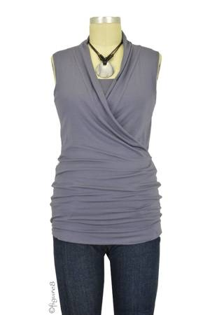 Baju Mama Isabella Sleeveless Nursing Top (Purple Grey) by Baju Mama