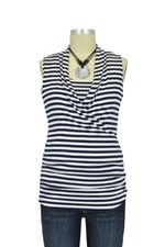 Baju Mama Isabella Sleeveless Nursing Top (Navy & White Stripes) by Baju Mama
