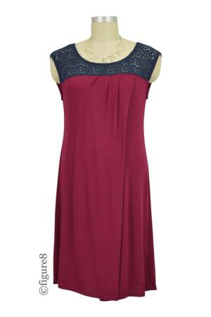 Colette Crochet Nursing Dress (Deep Burgundy) by Annee Matthew