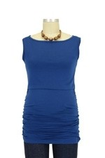 Baju Mama Audrey Sleeveless Boatneck Nursing Top (Peacock Blue) by Baju Mama