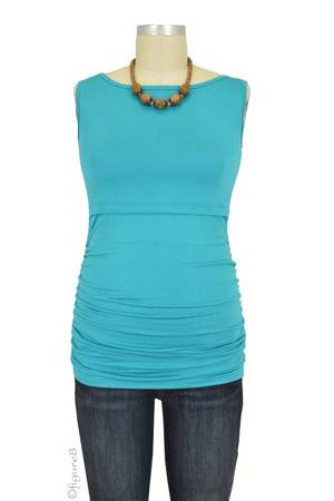 Baju Mama Audrey Sleeveless Boatneck Nursing Top (Jade) by Baju Mama