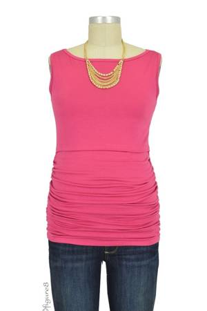 Baju Mama Audrey Sleeveless Boatneck Nursing Top (Raspberry) by Baju Mama