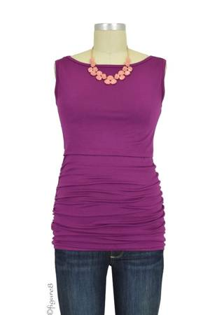Baju Mama Audrey Sleeveless Boatneck Nursing Top (Plum Wine) by Baju Mama