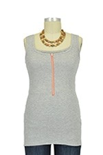 Molly Ades Zippered Nursing Tank (Heather Grey) by Molly Ades
