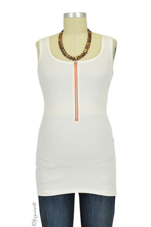 Molly Ades Zippered Nursing Tank (Ivory) by Molly Ades