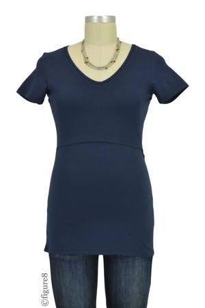 Boob Design Organic V-Neck Nursing Top (Midnight Blue) by Boob Design