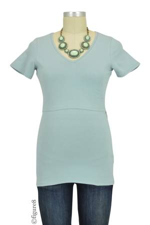 Boob Design Organic V-Neck Nursing Top (Ice Blue) by Boob Design