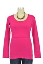 Boob Organic Long Sleeve Nursing Top (Fuchsia) by Boob