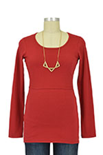 Boob Organic Long Sleeve Nursing Top (Cranberry Red) by Boob