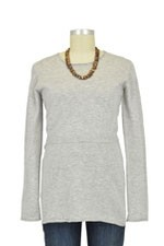 Boob Designs Merino Wool Nursing Sweater (Grey Melange) by Boob
