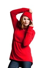Boob Design Ready Flex Fleece Nursing Hoodie (Red) by Boob Design