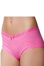 Boob Designs Seamless Brief (Pink/White Dot) by Boob