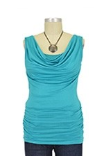 Baju Mama Ava Sleeveless Cowl Neck Nursing Top (Jade) by Baju Mama