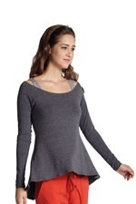 The Off-the-Shoulder Long Sleeve Nursing Tee by MEV