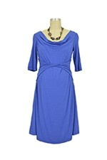 Liana Bamboo Twist Nursing Dress (Blue) by Japanese Weekend