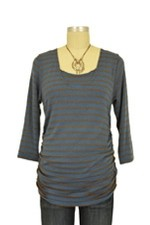 Morgan Drape Back Nursing Top (Wedgewood Stripes) by Japanese Weekend