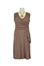 Brynn Draped Scarf Nursing Dress (Latte) by Japanese Weekend