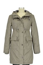Alana Hooded Maternity Coat (Taupe) by Noppies