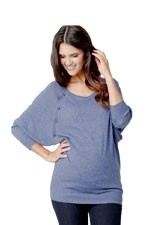Angora Batwing Nursing Sweater (Denim) by Ripe Maternity