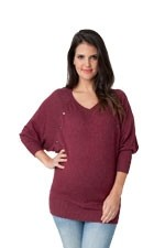Angora Batwing Nursing Sweater (Rhubarb) by Ripe Maternity