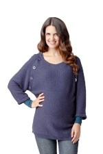 Raglan Button Nursing Sweater by Ripe Maternity