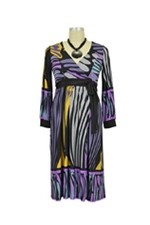 Ainsley Maternity Dress (Multi-Color Abstract) by Olian
