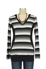 Classic Stripes Nursing Hoodie (Black & White Stripes) by Olian