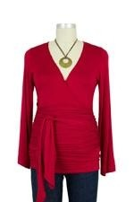 The Bella Wrap Around Maternity Top (Red) by Lilac Maternity & More