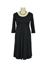 Ying 3/4 Sleeve Nursing Dress (Black) by Larrivo