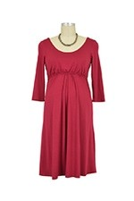 Ying 3/4 Sleeve Nursing Dress (Burgundy) by Larrivo