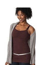 Glamourmom Nursing Bra Long Top with Adjustable Chest Band (Chocolate) by Glamourmom