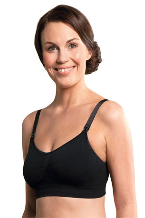 Carriwell Padded Seamless Nursing Bra (Black) by Carriwell