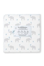Swaddle Designs Ultimate Receiving Blanket - Elephants & Chickies (Morning Sky) by SwaddleDesigns