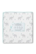 Swaddle Designs Ultimate Receiving Blanket - Elephants & Chickies (Sunwashed Aqua) by SwaddleDesigns