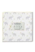 Swaddle Designs Ultimate Receiving Blanket - Elephants & Chickies (Cheerful Yellow) by SwaddleDesigns