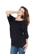 Seraphine Alexia Knitted Nursing Sweater (Black) by Seraphine