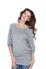 Seraphine Alexia Knitted Nursing Sweater (Grey) by Seraphine