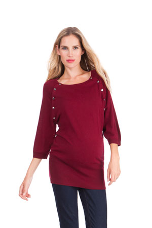 Seraphine Alexia Knitted Nursing Sweater (Berry) by Seraphine
