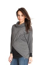 Seraphine Missy Knitted Nursing Sweater (Mid Grey) by Seraphine