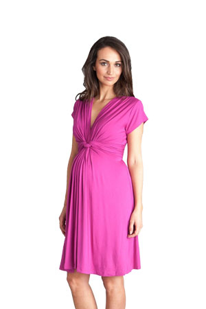 Seraphine Jolene Short Sleeve Maternity Dress (Fuschia) by Seraphine