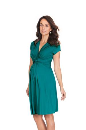Seraphine Jolene Short Sleeve Maternity Dress (Peacock Green) by Seraphine