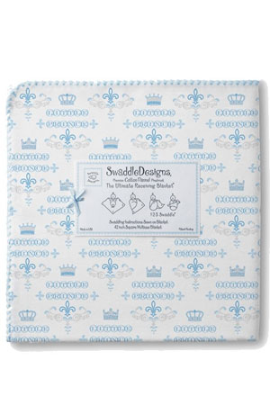 SwaddleDesigns - Ultimate Receiving Blanket - Little Prince (Pastel Blue) by SwaddleDesigns