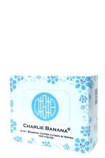 Charlie Banana 2-in-1 Bamboo Diaper Liners & Wipes-100 pieces () by Charlie Banana