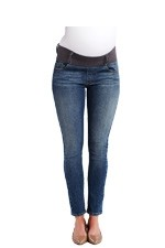 Maternal America Skinny Ankle Maternity Jeans (Dark Wash) by Maternal America