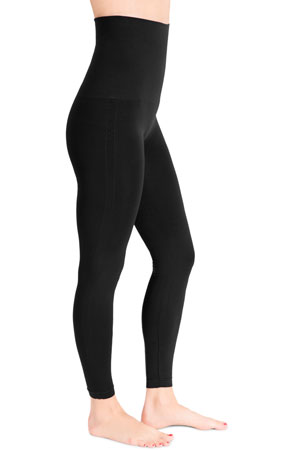 Mother Tucker™ Compression Leggings (Black) by Belly Bandit