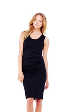 Ingrid & Isabel Pleated Tank Maternity Dress (Black) by Ingrid & Isabel