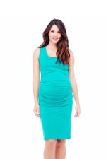 Ingrid & Isabel Pleated Tank Maternity Dress (Turquoise) by Ingrid & Isabel