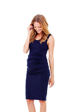 Ingrid & Isabel Pleated Tank Maternity Dress (True Navy) by Ingrid & Isabel