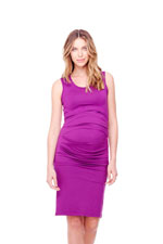 Ingrid & Isabel Pleated Tank Maternity Dress (Orchid) by Ingrid & Isabel